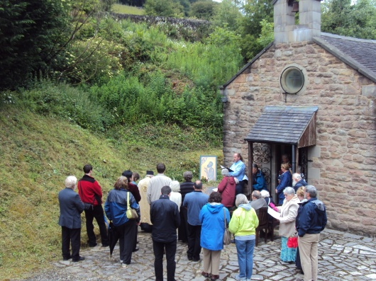 Last years Blessing of the Waters outside the Pisani Chapel